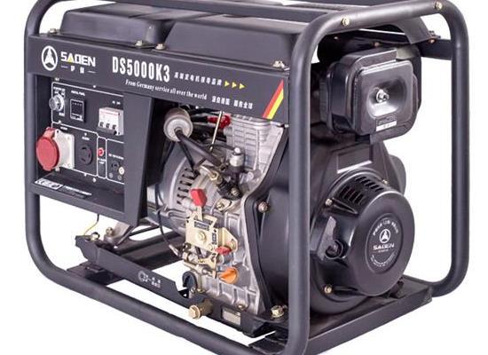 薩登5KW6KW單雙相小型柴油發電機