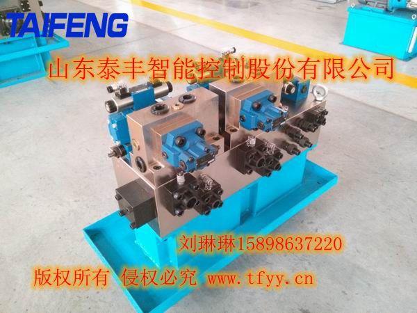 山东泰丰500T四柱液压机�L液压系统YN32-500HECV