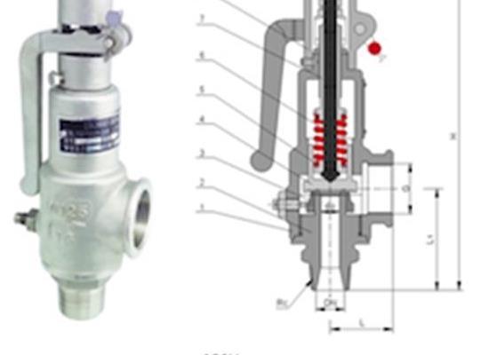 羅浮集團安全閥廠家A28W彈簧全啟式安全閥