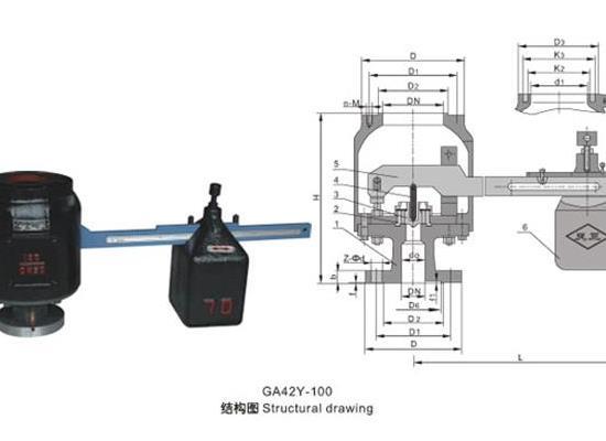 罗浮集团安全阀厂家销售GA44H双杠杆锅炉电站安全阀