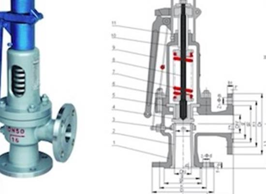 罗浮集团安全阀厂家A47Y弹簧微启式安全阀,蒸汽弹簧安全阀