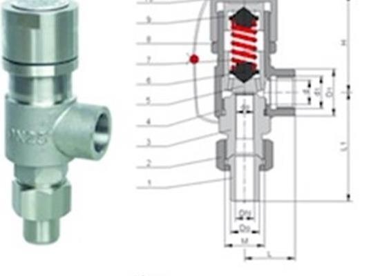 罗浮集团安全阀厂家型号A21H弹簧封闭螺纹安全阀 抗硫安全阀