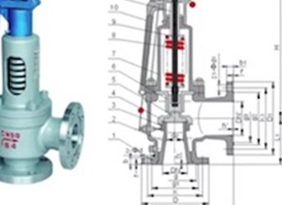 罗浮集团安全阀厂家生产A48Y/A44Y锅炉安全阀,弹簧全启