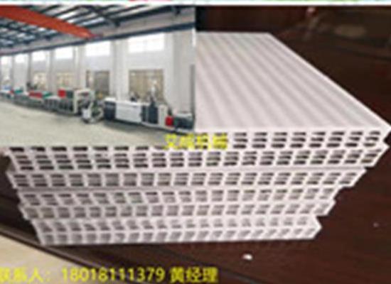 江苏pp中空建筑模板生产线、塑料模板机器厂家