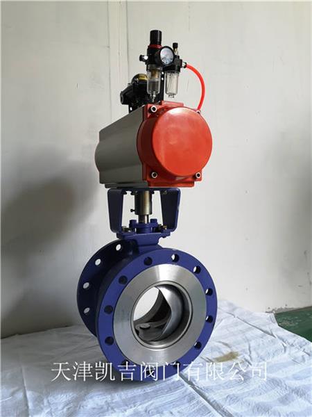 天津V型球阀生产厂家、气动球阀、天津凯吉阀门有限公司