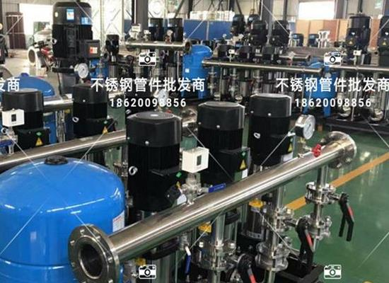 无负压供水设备配件分�u水器 泵�房法兰不锈钢分水器 消防供水设�备