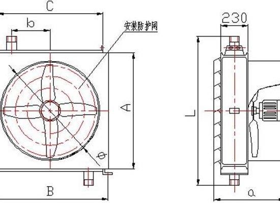 矿用工业蒸汽暖风机,Q型蒸汽暖风机规格尺寸