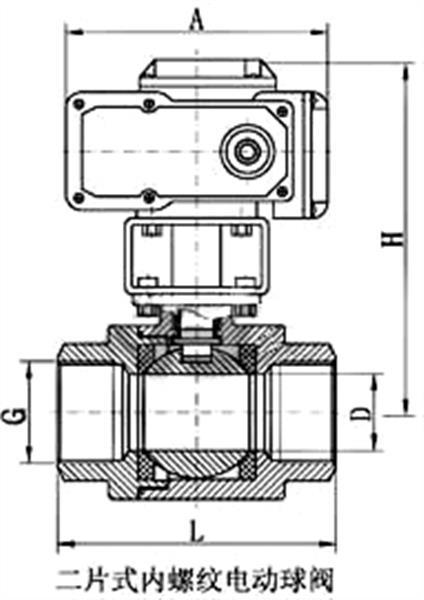 電動內螺紋球閥_尺寸圖2