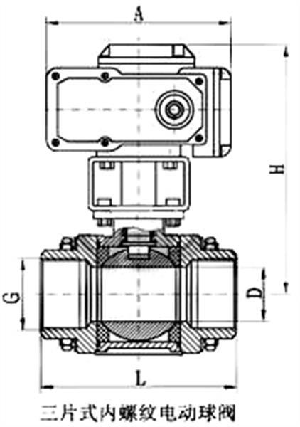 電動內螺紋球閥_尺寸圖1