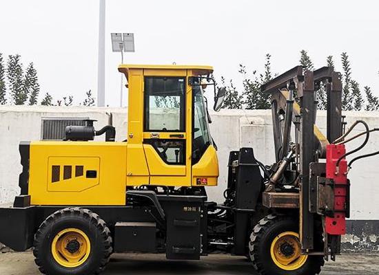 自制裝載式打拔鉆一體護欄打樁機 小四輪打樁機