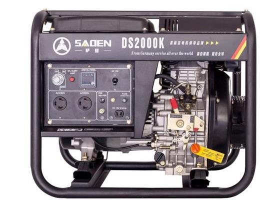 薩登2KW柴油發電機工地戶外