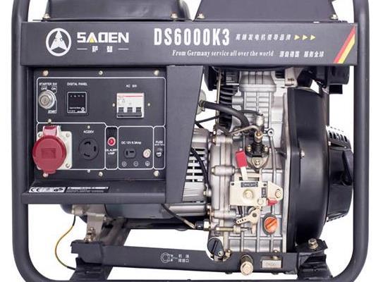 萨登6KW柴油发电机工地户外