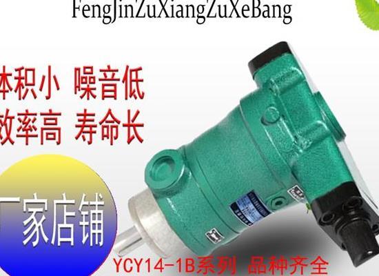 奋进柱塞泵 10YCY14-1B轴向柱塞泵 高压油泵 柱塞泵