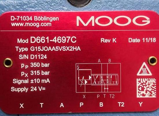 Moog D633D634直动式伺∞服阀