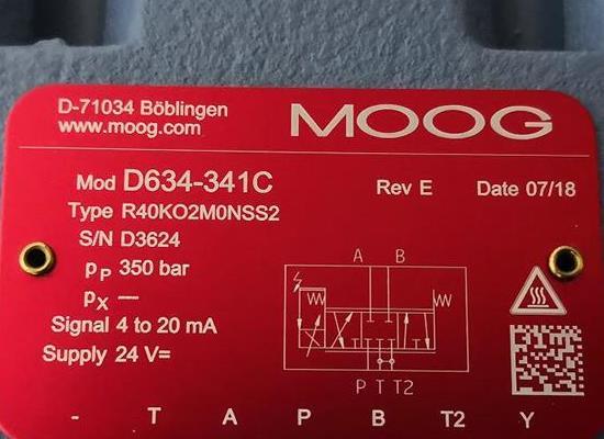 D634-341C Moog穆格力量竟然都可以和不相上下伺服阀