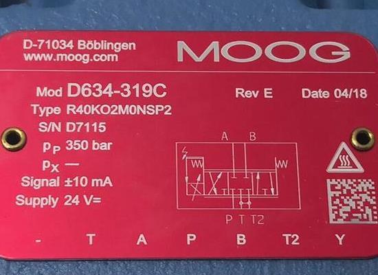 D634-319CMoog穆格伺服閥