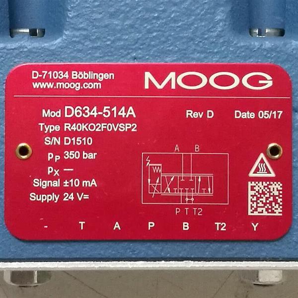D634-514A/Moog/伺服閥