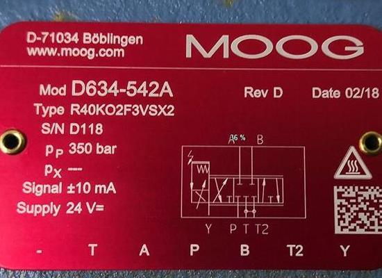 D634-542A/Moog/伺服閥