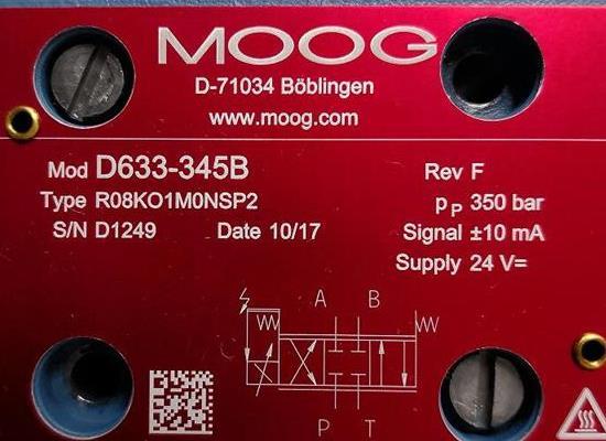 D633-345B/Moog/伺服閥