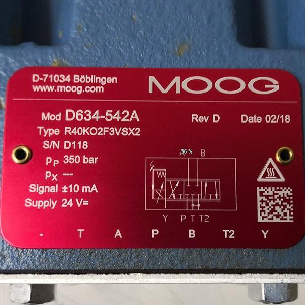 D634-542A/Moog/伺服阀