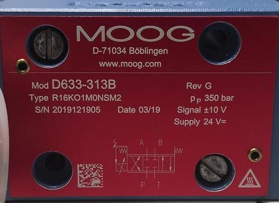 D633-313B/Moog穆格/伺服阀