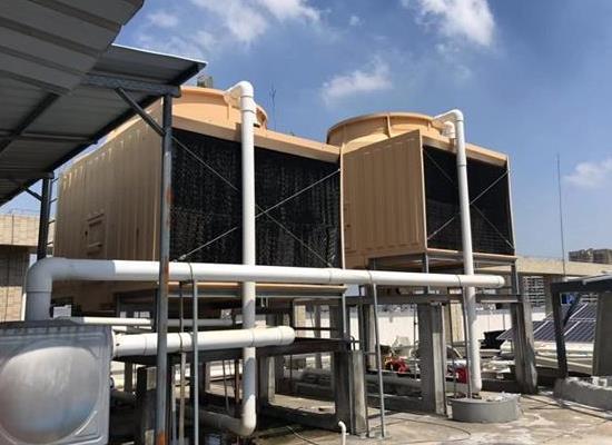 全国直销低噪音125横流式方形冷却塔