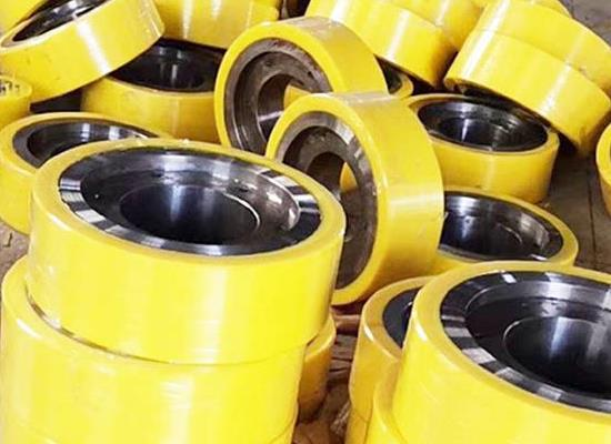 江苏聚氨酯包胶承重轮厂家,PU包胶行走轮厂家,聚氨酯主动轮,