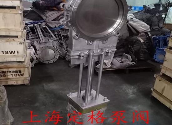 PZ673W-10P不锈钢刀闸阀 气动插板阀