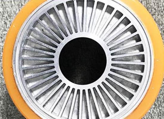 江蘇聚氨酯包膠承重輪廠家,PU包膠行走輪廠家,聚氨酯主動輪,