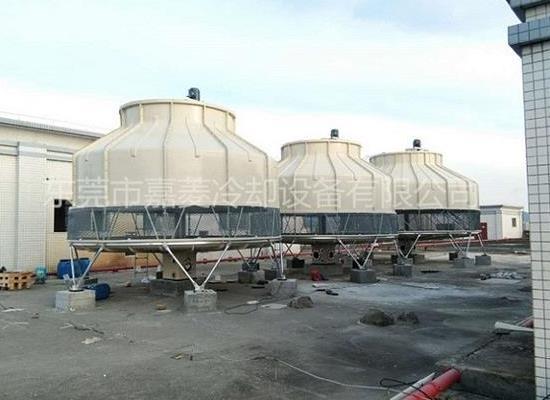80T100T125T150T圆形玻璃钢冷却塔工业冷却水塔