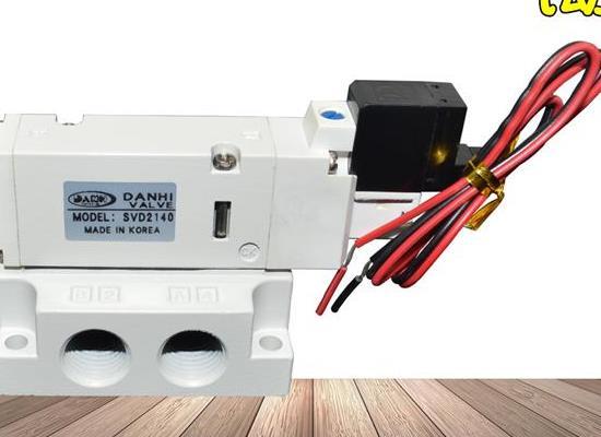 SVD2140-5L-02帶底座二位五通DC24V氣動電磁換