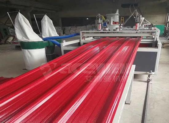仿古树脂瓦设备,仿琉璃瓦生产机器,树脂屋面瓦生产设备